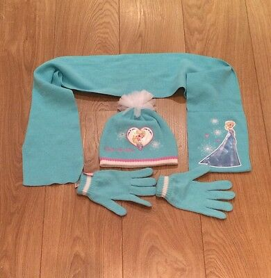 Elsa Hat Glove And Scarf Set. Age 8-12 Years