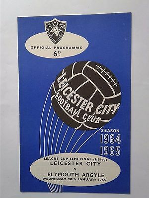 1965 Leicester City v Plymouth League Cup Semi Final