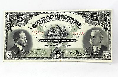 1914 Bank Of Montreal Canada $10 Ten Dollars 54-02 Various At Left Meredith.