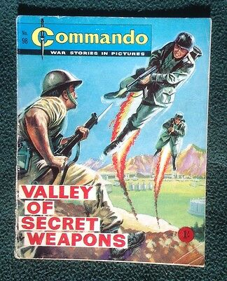 Commando war comic No 98, Valley Of Secret Weapons, Printed December 1963
