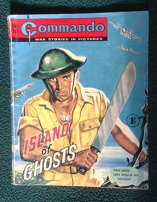 Commando war comic No 30, Island Of Ghosts,  Printed July 1962