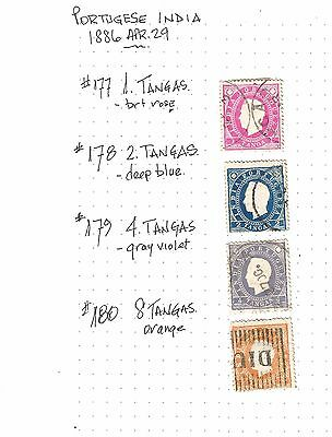 Stamps Portugese India 1886