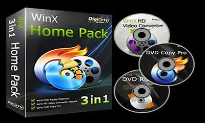 WinX DVD Ripper Platinum 8.5 License + Software Product. Same Day Delivery !!