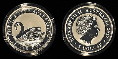 2017 Australia 1 Oz. 0.9999 Silver Swan - 25,000 Mintage - Sold Out In 2 Days!