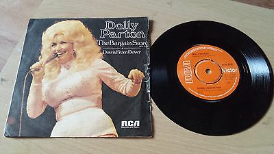 """dolly parton the bargain store / down from dover 7"""" vinyl record p/s"""