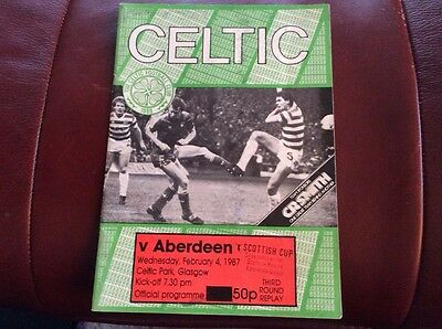 Celtic Football Programme from 1987.