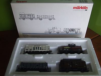 Coffret Marklin Ho 3 Rails 4 Wagons Sncf Anne 1955