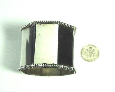Antique Gorham 8 Sided Beaded Sterling Silver Napkin Ring  -  #2220
