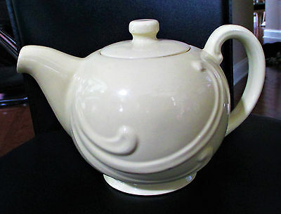 Vintage Coorsite Chefsware USA Pottery Yellow Teapot 24