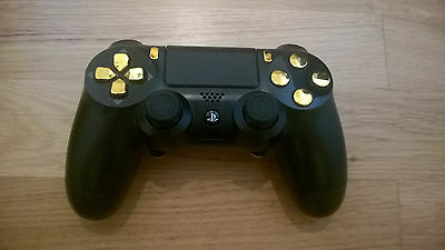 SONY PS4 Controller DualShock 4 DS4 Game pad joy stick chrom gold schwarz Umbau