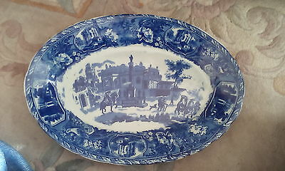 VICTORIA WARE IRONSTONE DISPLAY  OVAL PLATE blue and white plate