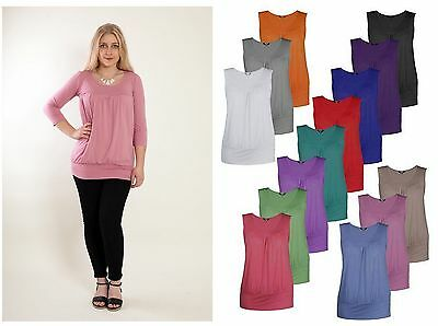TINA 2in1 Ruched Slouch Maternity Nursing Top Pregnancy Breastfeeding All Sizes
