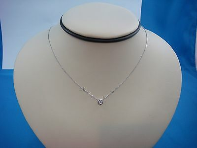 "0.12 Carat Single Thick Bezel ""diamonds By The Yard"" Necklace, 18 Inch Long"