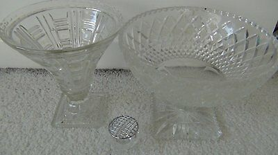 Crystal Fruit bowl/stands X2 (Large size)