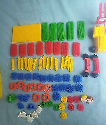 Stickle Bricks. Bundle Tractor People Wheels Base Plate. Job Lot Building