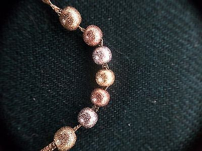 9ct Gold Singapore Twist Necklace With 7 Lucky 9ct Balls