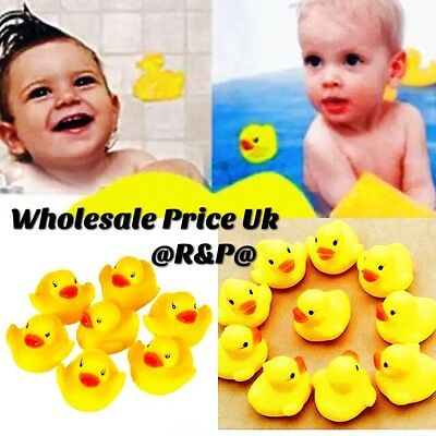 30 Yellow Rubber Ducks Bathtime Squeaky Bath Toy Water Play Kids Toddler DUCK