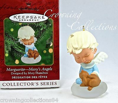 2000 Hallmark Mary's Angels Marguerite Ornament 13th in Series Bunny Rabbit #13