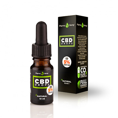 CBD Drops (Oil) | 5% | 10ml | Contains CO2 extracted cannabis resin