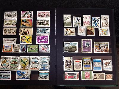 Large postal stamp collection- several pages in album !!!