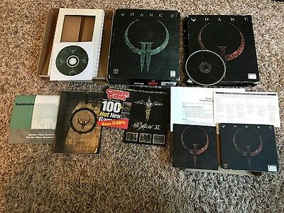 Quake 1 & 2 Pc Rare Complete Boxed Ships Quick And Free!