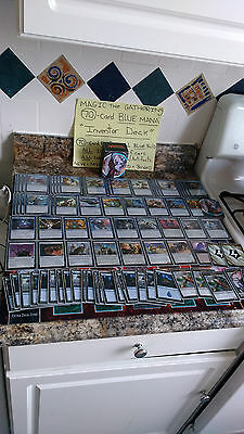 """MAGIC THE GATHERING: """"Lot of 70 INVENTOR Deck"""" -- BLUE MANA! Artificers! Aether!"""