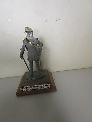 Cavaliere Sir JEOFFREY CHAUCER-XIV° sec-soldatino in piombo 54mm-ditta TRADITION