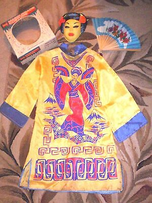 Vintage Halco Masquerade Halloween Costume CHINESE PRINCESS sz M 8-10 yrs In Box