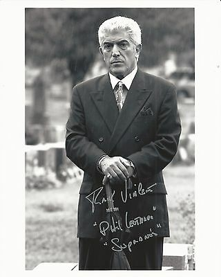 FRANK VINCENT Hand Signed 8x10 Autographed Photo With COA - THE SOPRANOS