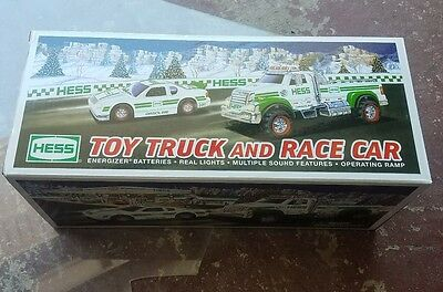 2011 Hess Toy Truck And Race Car New In Box!
