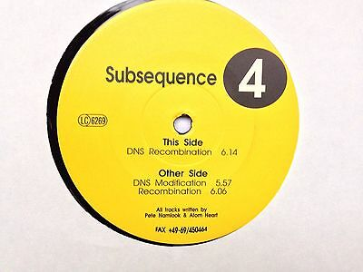 "Subsequence 4 - Pete Namlook / Atom Heart - Fax +49-69/450464 - 12"" Vinyl"