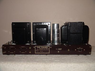 Vintage Fisher SA-300-B Stereo Power Amplifier ~ Works VERY CLEAN  Needs Tubes