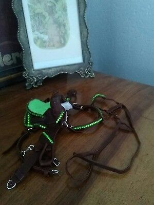breyer traditional size custom horse tack, saddle bridle and breast collar