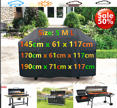 S M L BBQ Cover Outdoor Waterproof Barbecue Covers  Garden Patio Grill Protector