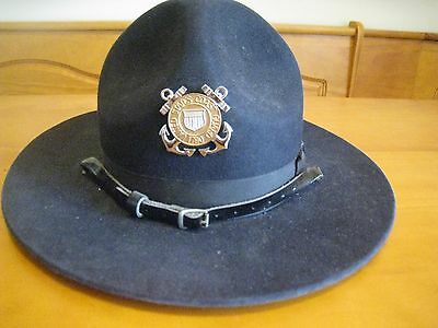 USCG United States Coast Guard Drill Instructor Hat Size 7