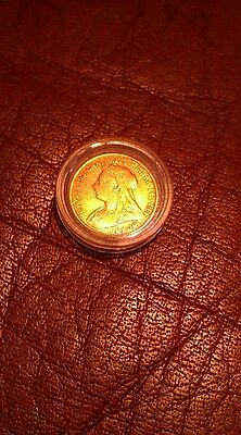 22ct Gold Half Sovereign rare Uncirculated victorian 1898
