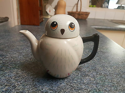 Ceramic Owl Teapot with infuser - New, never used -