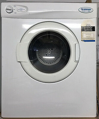 Simpson Eziset 500 5kg tumble clothes dryer working well - Western Sydney Pickup