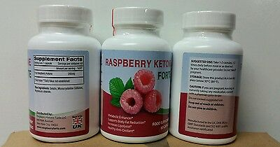RASPBERRY KETONES FORTE Fat Burner Weight Loss Slimming Pills 3x60 Capsules