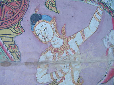 Original Antique Thai Manuscript Painting from about 1800 - 1850