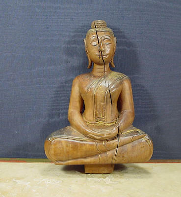 Original Old Antique Buddha Statuette Thailand 1800s