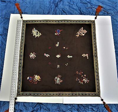"""Brand new antique Chinese Mahjong game tablecloth 34"""" 1/2 x 34"""
