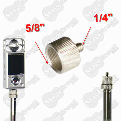 "Mic Stand 5/8"" Female To 1/4"" Male Thread Adapter Microphone Camera Adaptor"