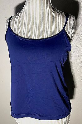 Banana Republic Dark Blue Stretch Camisole Cami Tank Top Women's Size Large