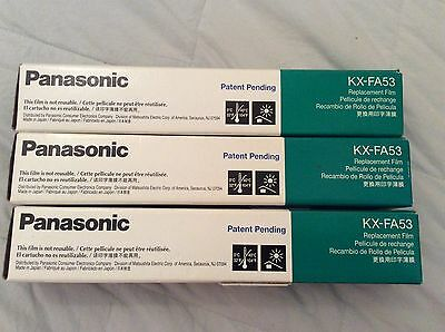 Lot of Panasonic KX-FA53 Replacement Ink Film rolls NEW -- FREE SHIPPING