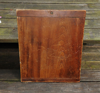 ANTIQUE WOODEN BREADBOARD * DOUGH BOARD * CUTTING BOARD with BAKERS ENDS