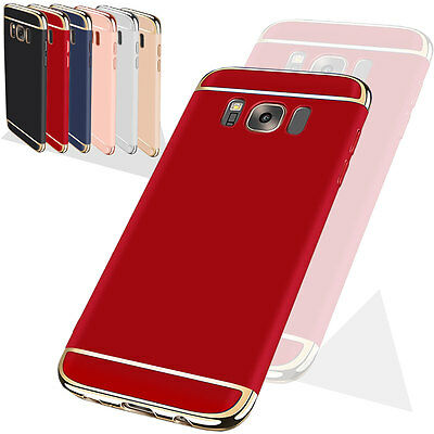 Luxury Slim PC Shockproof Hard Armor Back Case Cover For Samsung Galaxy S8+ Red