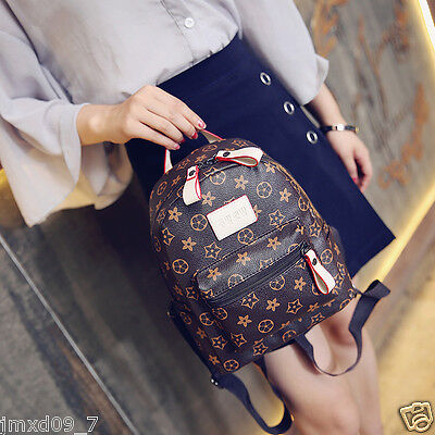 Women's Faux Leather Backpack Small  Rucksack Cute bag Casual Purse Knapsack