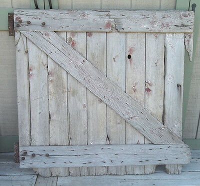 "Vintage BARN DOOR FARM 1/2 Stall DOOR-Wall Display Board 45""H Original Hardware"