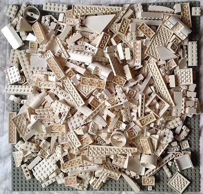 Lego 2 lb  White Bricks Small Modified Parts Pieces Accessories Wedges  Lot